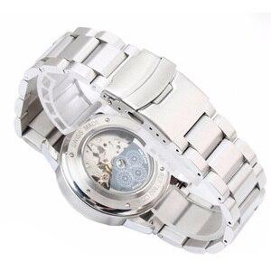 Image 3 - Rolamy 18 20 22 24mm Neue Mann Silber Gebürstet Feste Edelstahl Armband Uhr Band Strap Gürtel Für Seiko tudor Tag Heuer