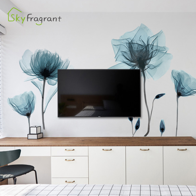 Creative Warm Floral Wall Stickers 4