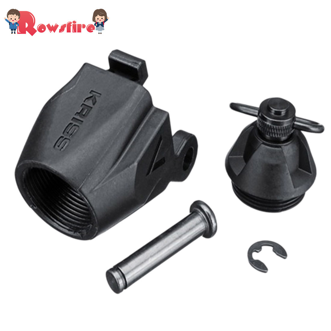 Rowsfire 1 Pcs Original Stock Adaptor For LH Vector Gen.2 Water Gel Beads Blaster - Black
