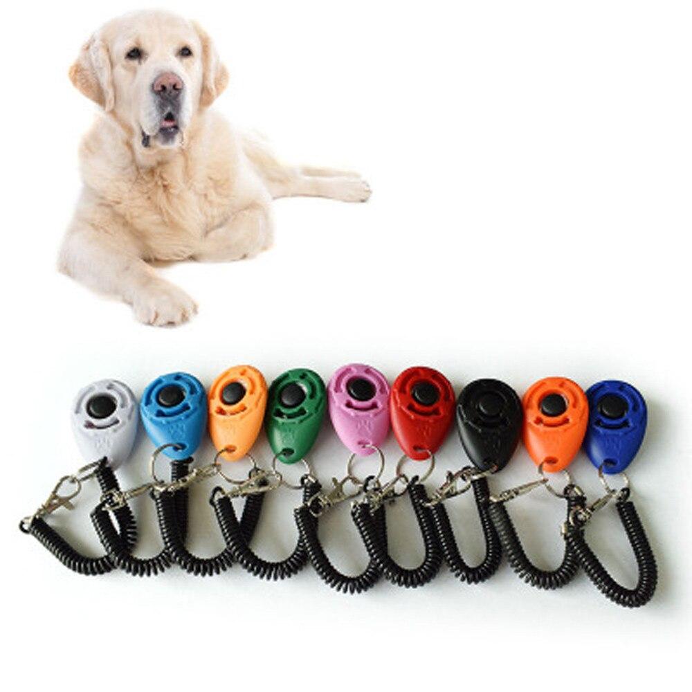 Melhor venda 1 peça novo cão animal de estimação clique clicker treinamento instrutor ajuda alça de pulso casa da família nova chegadas dropshipping