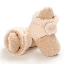 Детская зимняя бархатная обувь однотонная теплая смешанных цветов