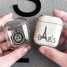 Eiffel Towe Luxury Transparent Hard Case For Apple Airpods Paris Landmark Clear Headphone Protective Cover
