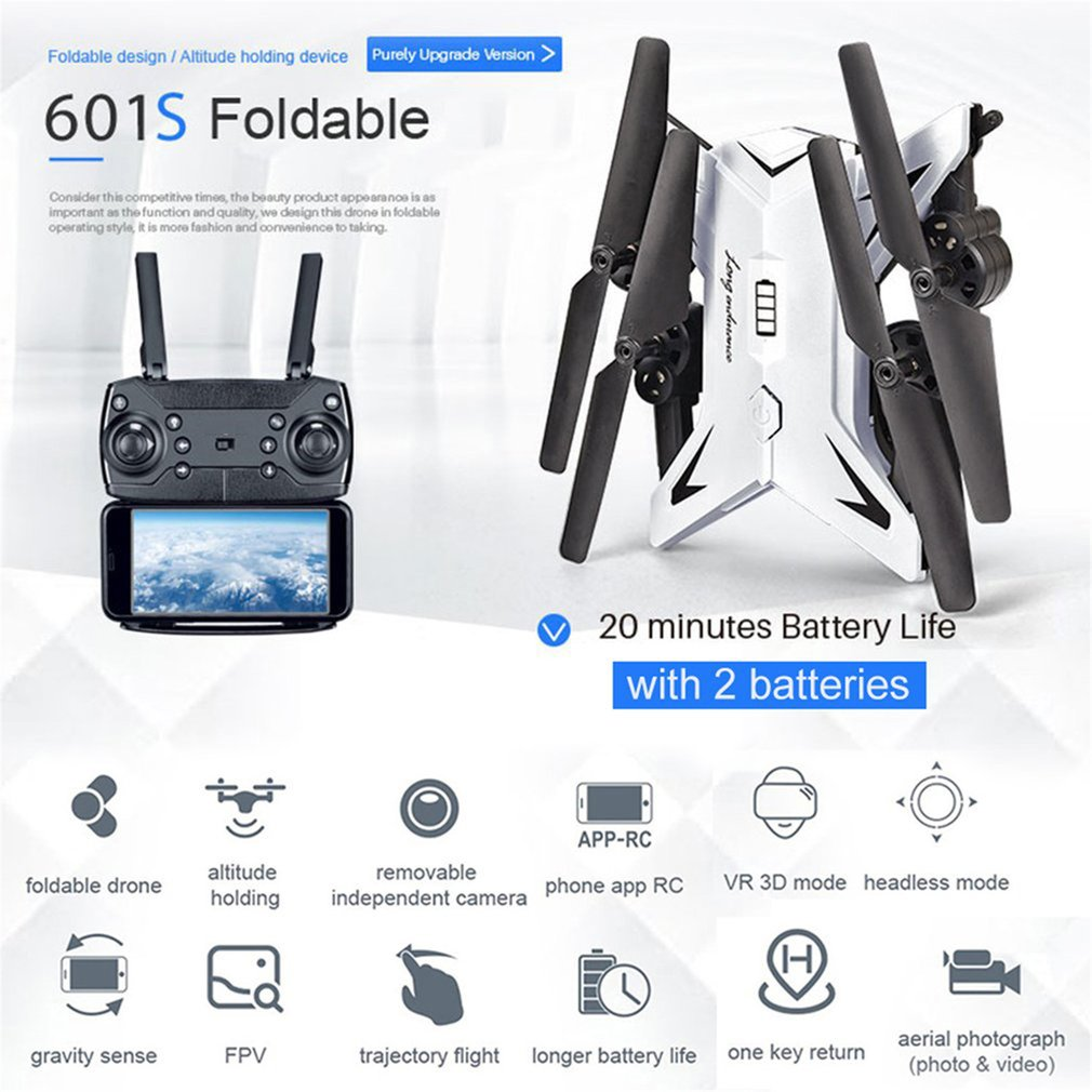 2019 NEW KY601S Full HD 1080P 4 Channel Long Lasting Foldable Arm RC Quadrocopter With Camera Drone WIFI Timely Transmission