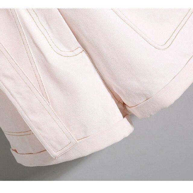 2021 Summer Korean Fashion Striped T-shirt Overalls Set for Women Leisure Joker Girls Student High Waist Shorts Clothing Sets 6