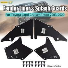 Splash Guardas Escudo Para Toyota Land Cruiser Prado J120 J150 2003 - 2020 LC3 LC4 LC5 Avental Seal Forros Fender Mud Flaps W Clips