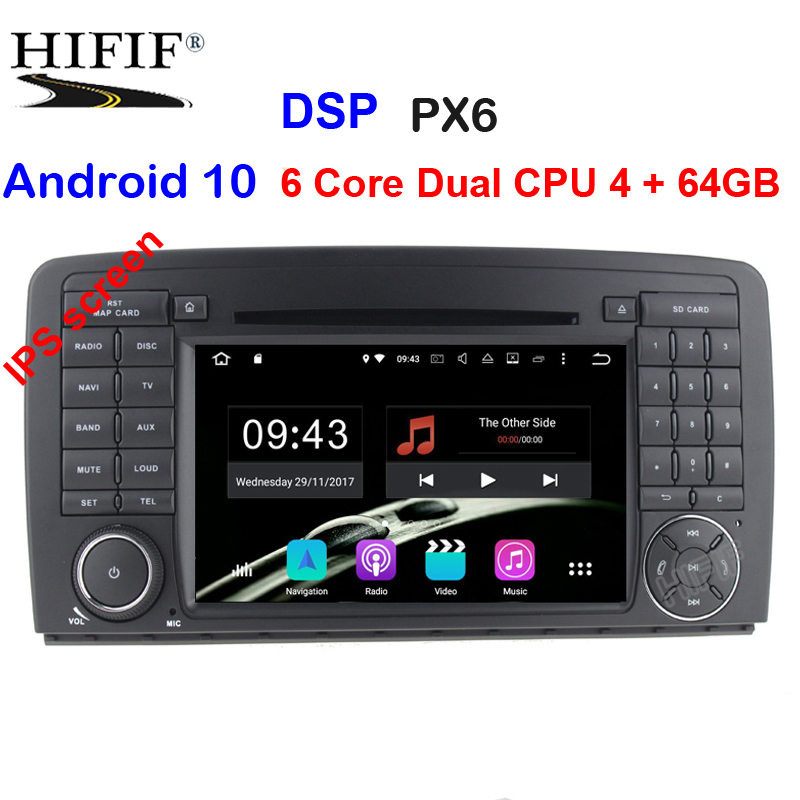 PX6 DSP 2 Din Auto Radio Android 10 For Mercedes/Benz/AMG R Class W251 R300 R350 R63 Car Multimedia Video DVD Player GPS DVR FM image