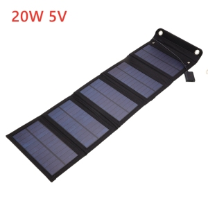 Image 2 - 20W Solar Panels Folding Waterproof Sun Power Solar Cells Charger 5V 2A USB Output Devices Portable for Outdoor Camping Car