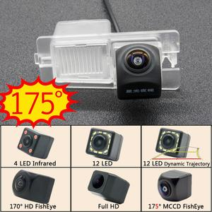 Câmera de ré 175 graus fisheye mccd 12led hd, câmera de visão traseira para ssangyong rexton kyron, corando actyon, monitor de estacionamento de carro