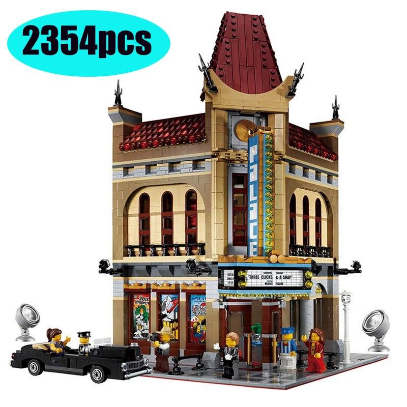 15006 30006 серия идей модель дворца Кино строительные блоки набор совместимых lepining 10232 классический дом архитектурные игрушки