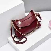 Fashion women Crossbody Bag soft PU Leather Messenger Bag for female Designer Chain Shoulder Bag small Handbag Bolso Mujer black