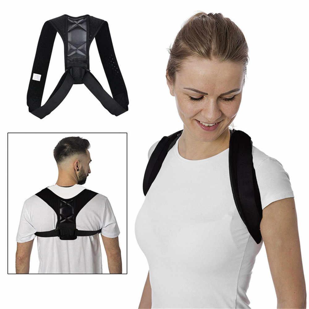 Cinturón de soporte de espalda ajustable Corrector de postura de espalda cinturón de respaldo de hombros tirantes lumbares cinturón de corrección de postura de hombro