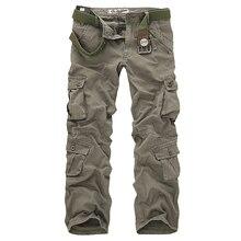 2020 고품질 남성 카고 바지 캐주얼 느슨한 멀티 포켓 군사 바지 남성용 긴 바지 Camo Joggers Plus Size 28 40