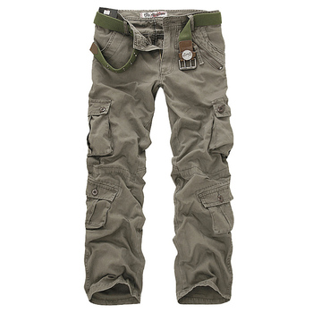 2020 High Quality Men's Cargo Pants Casual Loose Multi Pocket Military Long Trousers for Men Camo Joggers Plus Size 28-40 - discount item  30% OFF Pants