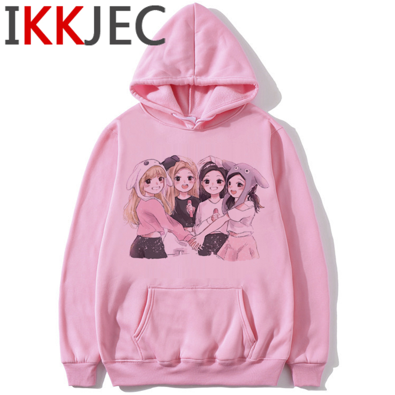 Blackpink In Your Area Harajuku Hoodies Women Ullzang Kill This Love Album K-pop Sweatshirt Jisoo Jennie Lisa Rose Hoody Female 1