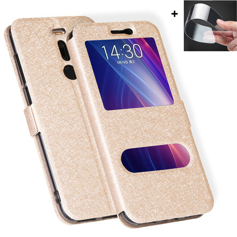 Front Window Case For Meizu X8 case MeizuX8 M852Q Leather Filp phone cover for Meizu X 8 8X MeizuX8 back cases For meizu X8 case