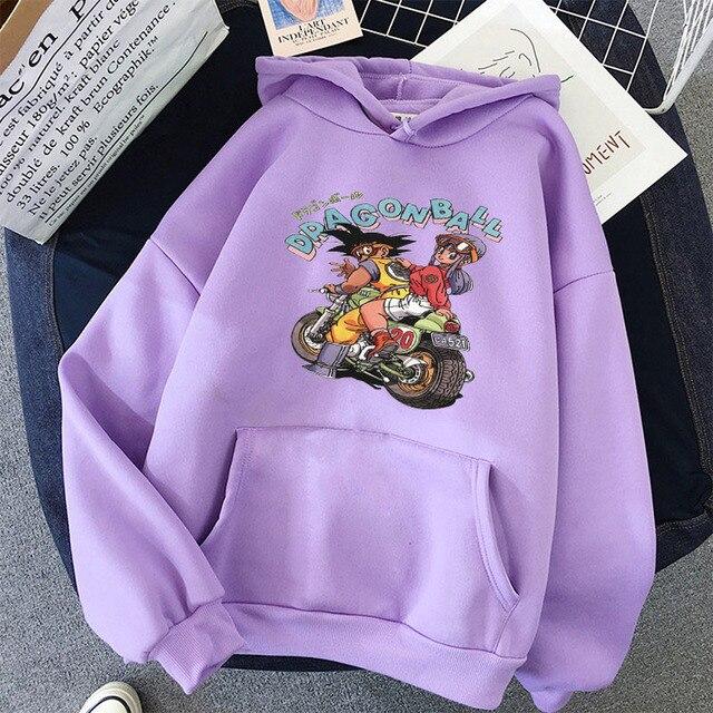 Japanese Anime Printed Hoodies 2021 Spring Autumn Long Sleeve Hoodie Women Cartoon Graphic Streetwear Sweatshirts Female Tops 1