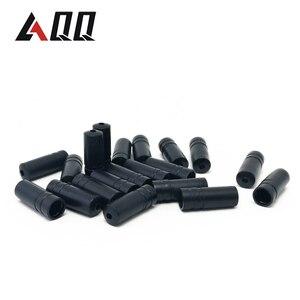 100/50Pcs Bike Bicycle Brake Gear Outer Cable End Caps Tips Crimps 4MM Plastic Brake Cap Plastic Cable Caps(China)