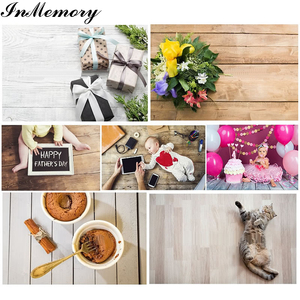Image 3 - InMemory Wooden Board Photocall Plank Texture Food Portrait Grunge Customized Photography Backdrops For Photo Studio