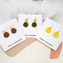 Korean creative colorful irregular geometric earrings temperament lady simple women female gift
