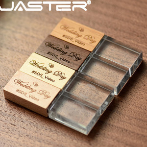 JASTER (более 1 шт. бесплатный логотип) дерево с кристаллом USB флэш-накопитель креативный pendrive 8 ГБ 16 ГБ 32 ГБ 64 Гб карта памяти