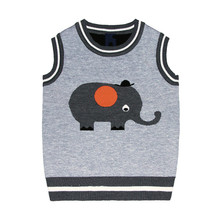 Autumn fall toddler Boys Sweater vest Cute Cotton Baby boy Clothes tops Animals Toddler For Children kids Costume