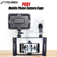 YELANGU PC01 Handheld Mobile Phone Camera Cage Stabilizer Steady Handle Video Film Mount Holder Rig Grip For Iphone Canon Nikon