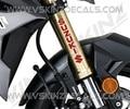 Для x2 логотип Suzuki Премиум литой мотоцикл наклейки на вилке наклейки GSX GSXR 1000 750 600 RR