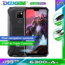 "Téléphone portable robuste Doogee S68 Pro Helio P70 octa core 6GB 128GB Charge sans fil 5.84 ""écran IPS 6300mAh 12V/2A Smartphone"