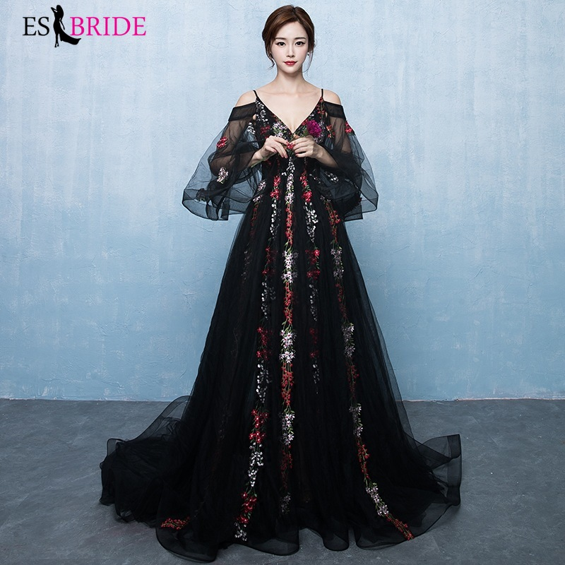 2020 new spring black noble elegant dignified atmosphere long banquet evening dress