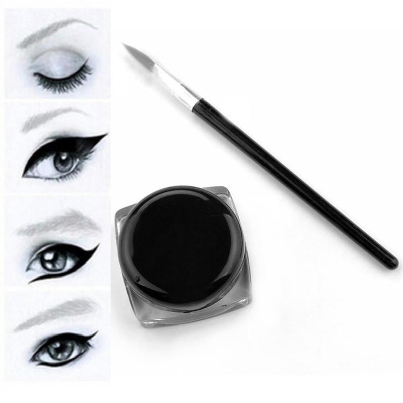 Waterproof Black Eye Liner Cream Pencil Eyeliner Smudge-Proof Cosmetic Beauty Makeup Liquid Eyeliner Pencil 1Pcs image