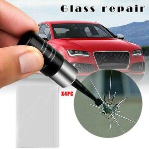 Image 3 - 4 زجاجات أدوات إصلاح زجاج السيارات ، الزجاج الأمامي ، رقاقة الكراك ، سائل إصلاح نانو استعادة