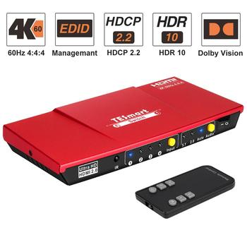 4K 4x1 HDMI Switch 4 Port HDMI Switch 4 In 1 Out with S/PDIF and L/R Audio Output Support HDTV 4K@60Hz 4:4:4 IR Remote Control автоусилитель audio system r series r 110 4 page 7