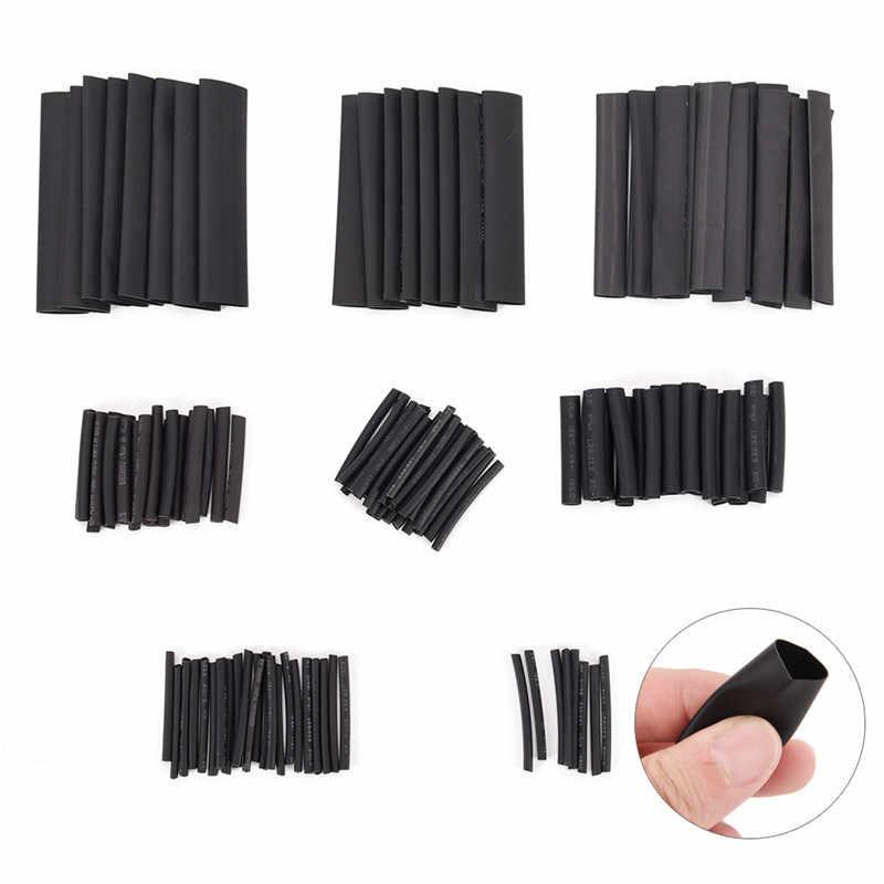 Tubings électriques utiles Multi Style noir 2:1 assortiment thermorétractable Tube nouveau 127 pièces/ensemble câble de voiture gaine envelopper Kit de fil