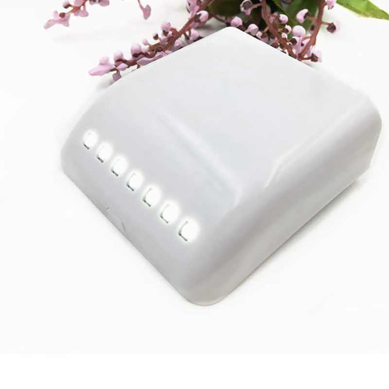 MeterMall  LED 12V Sensor Night Light Mini Wireless Hinge Motion Sensor Ceiling Night Light Battery Powered Porch Cabinet Lamp