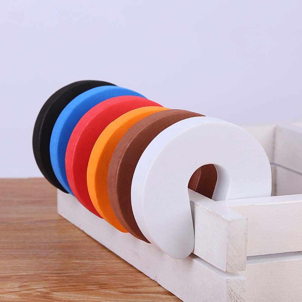 6 colores tapón de la puerta de la espuma de los niños Protector de la pinza del dedo de seguridad de los niños duraderos del bebé