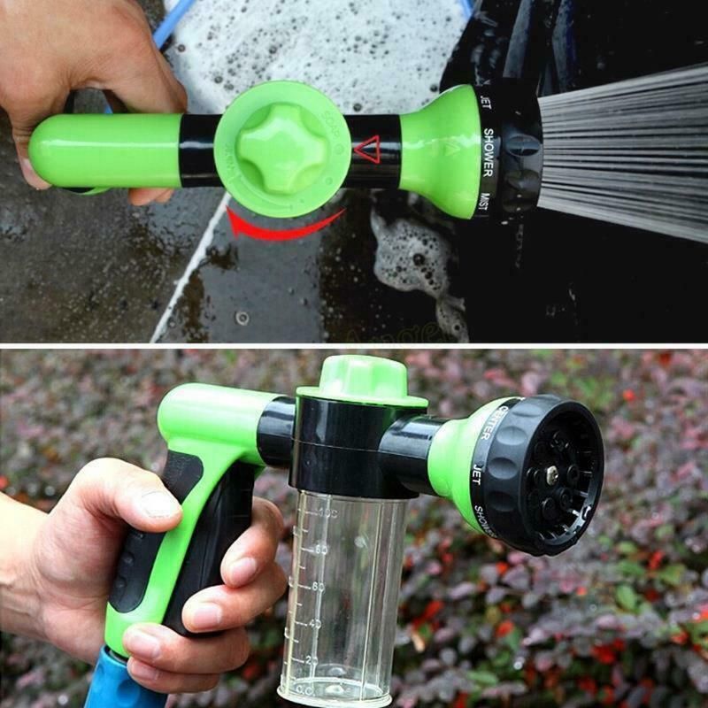 Foam Car washer Sprayer Garden Hose Nozzle Sprayer With 8 modes For Car Pet Plants pressure washer