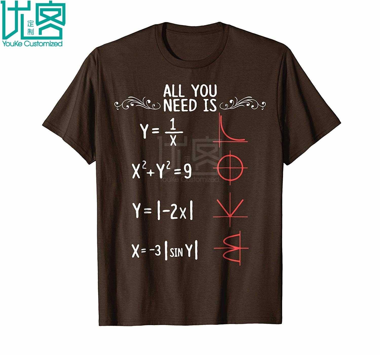 Yang Anda Butuhkan Adalah Cinta Matematika T Shirt Menakjubkan Lengan Pendek Kasual Yang Unik Tees 100% Pakaian Katun T Shirt