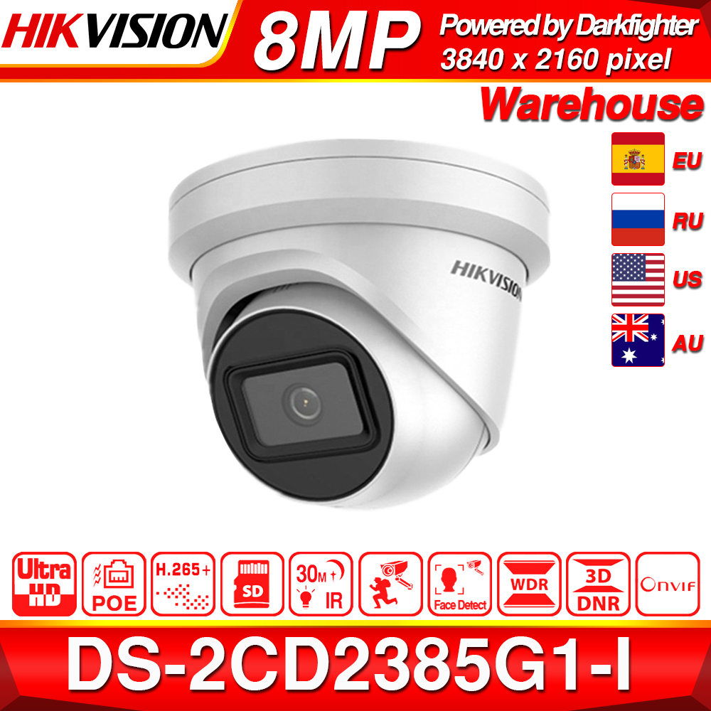 Hikvision câmera ip original DS-2CD2385G1-I 8mp rede cctv câmera h.265 cctv segurança poe wdr slot para cartão sd eeayip 3.0