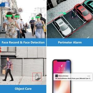 Камера видеонаблюдения Movols, 8 каналов, AI, 4 шт., 2 МП, водонепроницаемая камера безопасности, DVR, H.265, система домашнего видеонаблюдения