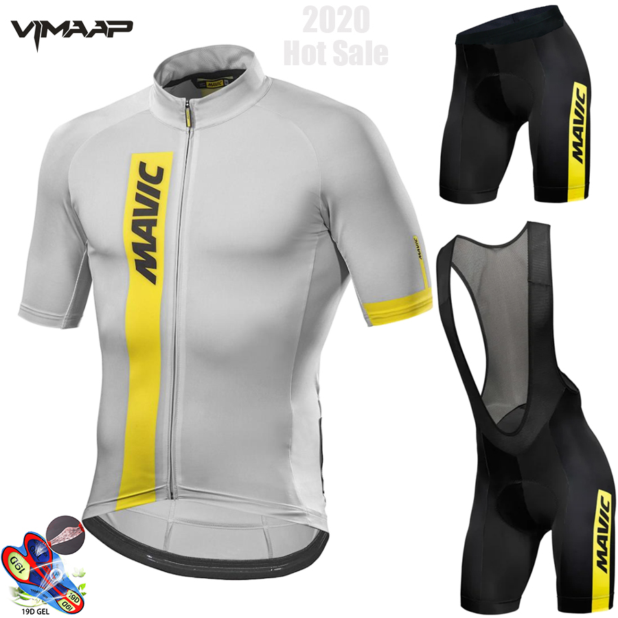 Mavic 2020 Pro Team Cycling Clothing /Road Bike Wear Racing Clothes Quick Dry Men's Cycling Jersey Set Ropa Ciclismo Maillot