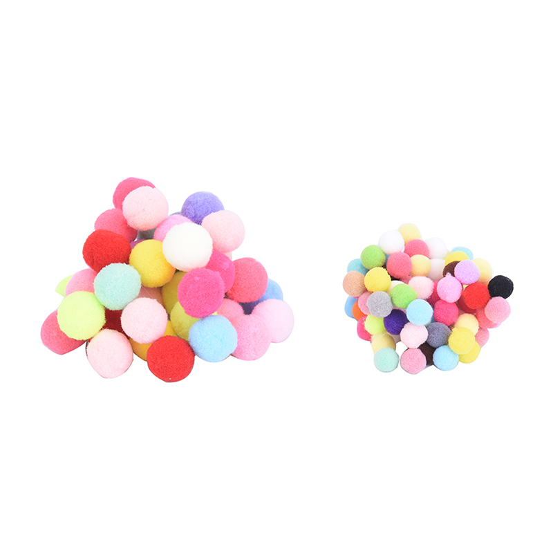 100Pcs 10mm 20mm DIY Crafts Colourful Mini Fluffy Pom poms Ball Felt Team sport decoration accessories Cheerleading souvenirs