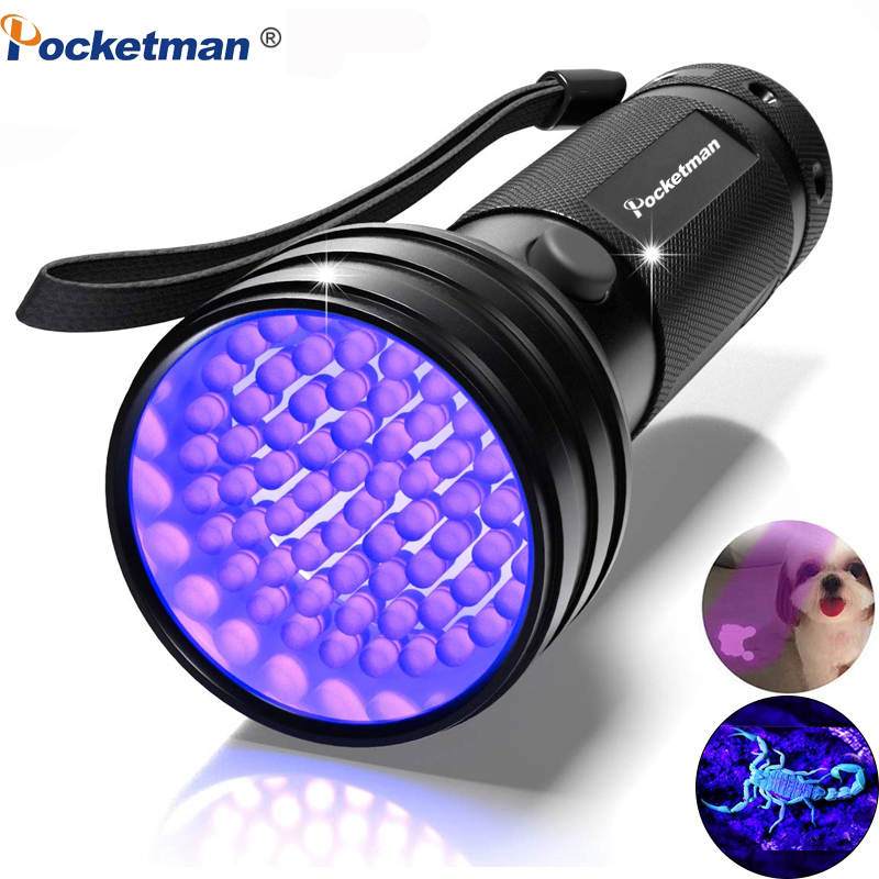 UV Flashlight Black Light 9 12 21 51 LED 395 NM Ultraviolet Torch Blacklight Detector For Dry Pets Urine&Pet Stains&Bed Bug