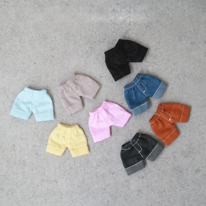 Ob11 Baby Clothes Molly Piccodo Beauty Knot Pig Body9 Clay Hands Can Wear Loose Curling Shorts Trousers Doll Clothes Accessories