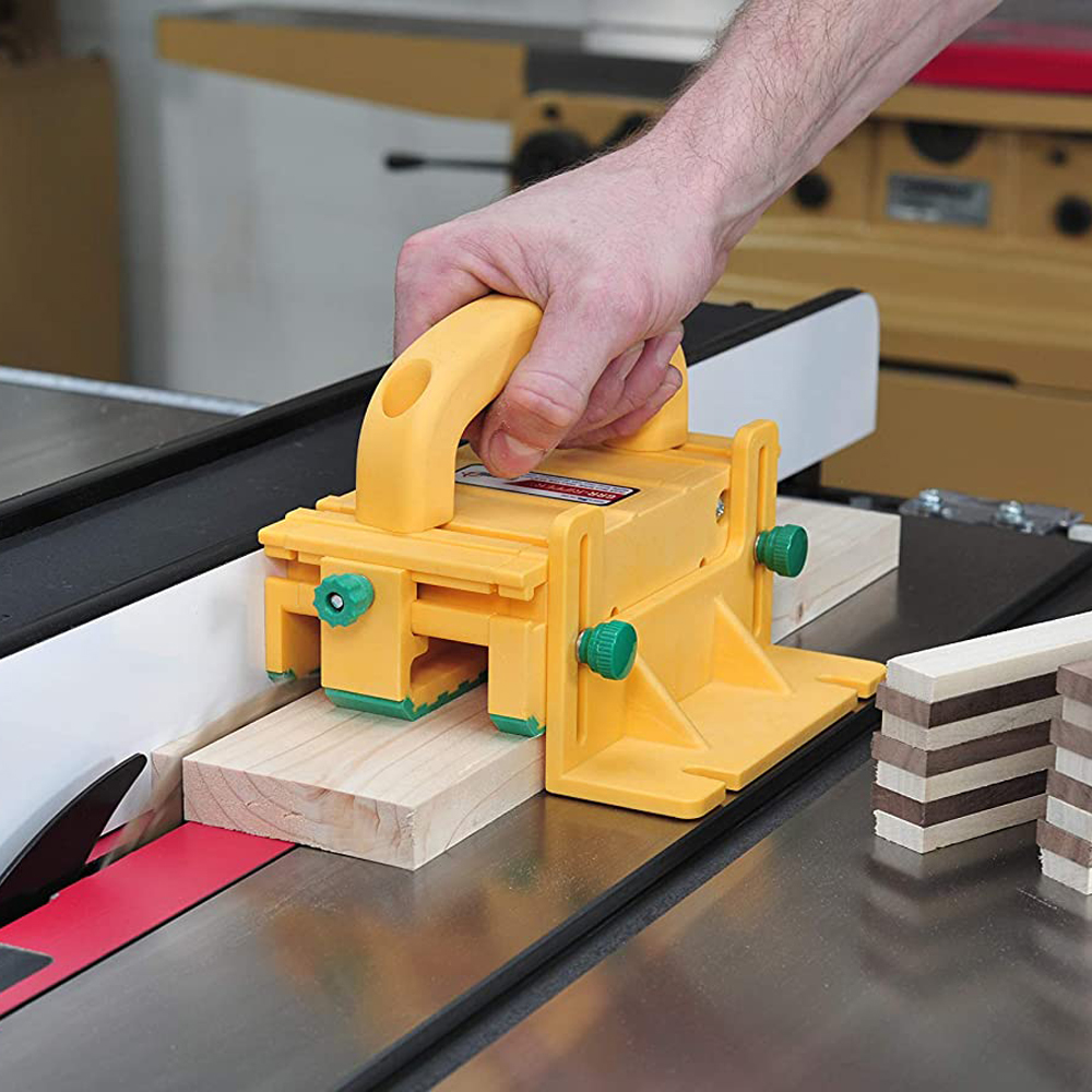Easy To Fix The Board Operate 3D Safety Wood Push Handle Upside Down Saw Band Saw Woodworking Push Ruler Safe Work Protection
