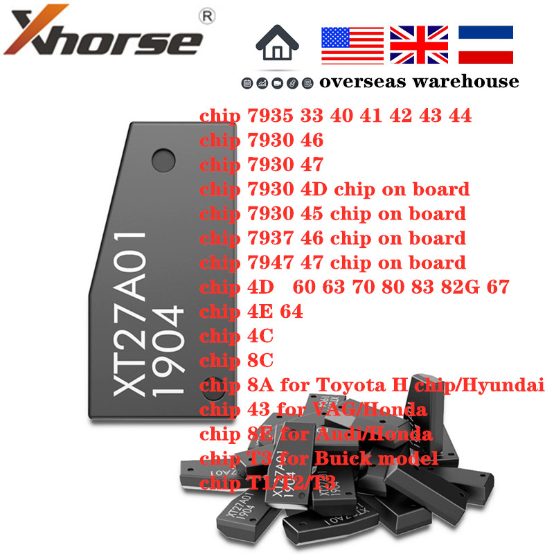 Xhorse VVDI супер чип XT27A01 XT27A66 транспондер для VVDI2 VVDI мини ключ инструмент