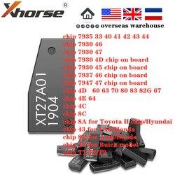 Xhorse-transpondeur pour outil pour clé pour VVDI2 VVDI, Super puce XT27A01 XT27A66