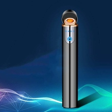 New USB Charging Electronic lighter windproof creative Touch senstive electric tungsten lighters Gift Filter cigarette holder