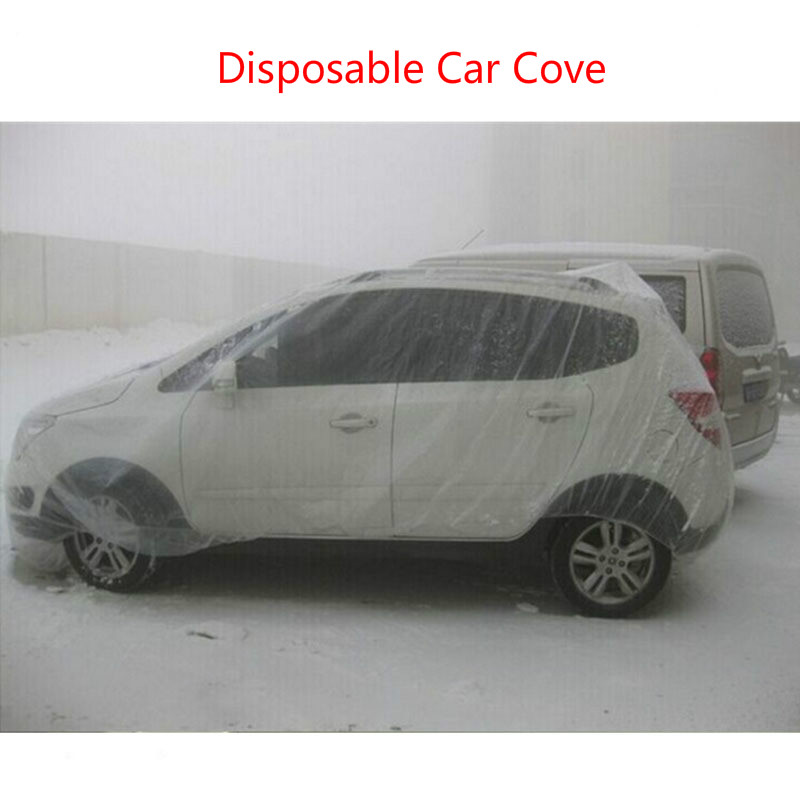 New Arrive PE Film Material Disposable Car Cover Mainly Used For Dust Pollution Prevention Rain Snow Frost Drop 4s Store Sales
