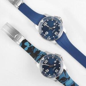 Image 4 - 21MM 20MM סיליקון רצועת השעון עבור כיבוש L3 41mm 43mm חיוג שעון עבור צוללת GMT שעון יד רצועת להקת צמיד גומי כלים