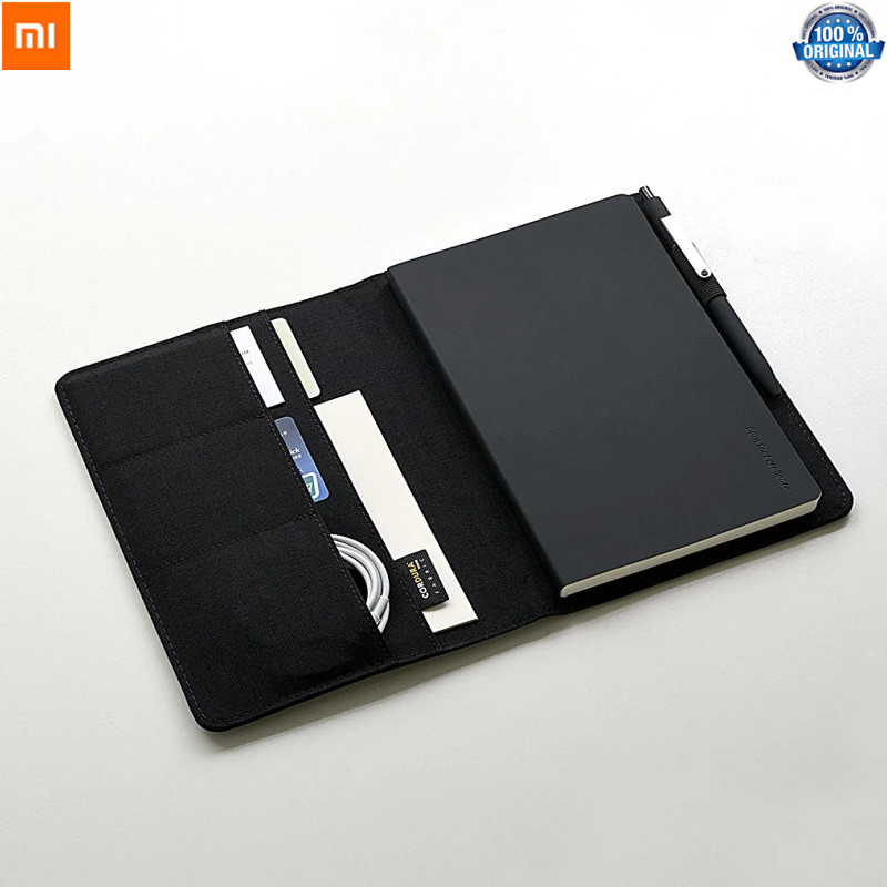 Xiaomi Mijia Smart Home Kaco Noble Paper NoteBook Leather Card Slot Wallet Book For Office Travel With A Pen Gift